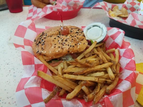 The Poky Dot's Raspberry Kissed Burger